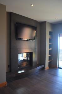 East den fireplace